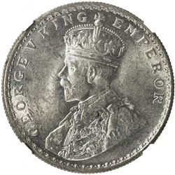 BRITISH INDIA: George V, 1911-1936, AR rupee, 1914(c). NGC MS62