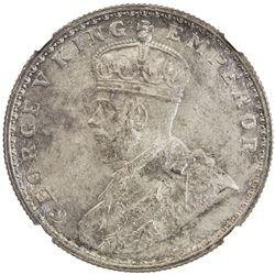 BRITISH INDIA: George V, 1910-1936, AR rupee, 1915(c). NGC MS65