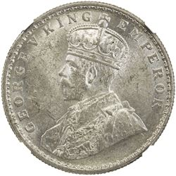 BRITISH INDIA: George V, 1911-1936, AR rupee, 1915(c). NGC MS62