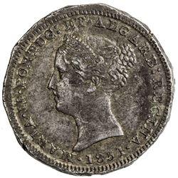 GOA: Maria II, 1834-1853, AR pardau, 1851. NGC AU50