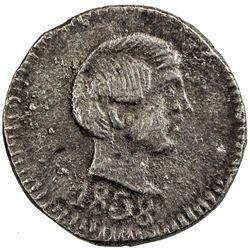 GOA: Pedro V, 1853-1861, AR 60 reis, 1858, KM-277, NGC graded AU58