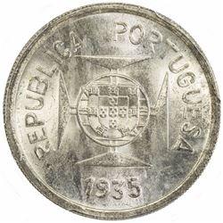 PORTUGUESE INDIA: AR rupia, 1935. PCGS MS65