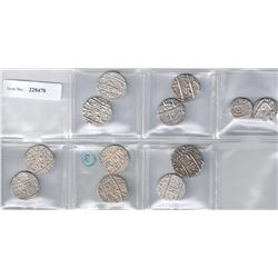 INDIA:LOT of 12 silver rupees