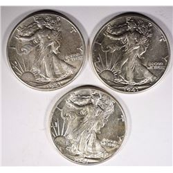 3-1941 CH BU WALKING LIBERTY HALF DOLLARS