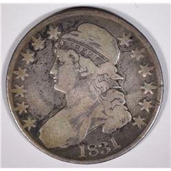 1831 BUST HALF DOLLAR  NICE  VG/F