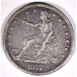 1877-S TRADE DOLLAR  F-VF  RIM BUMP