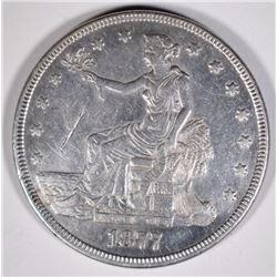 1877 TRADE DOLLAR  XF-AU