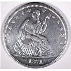 1871-S SEATED LIBERTY HALF DOLLAR AU/UNC