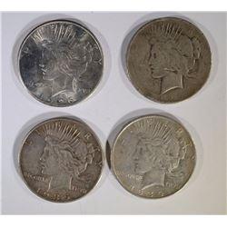 1926, 26-D, 35 & 34-D CIRC PEACE DOLLARS