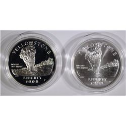 1999 Yellowstone National Park 2-Piece Silver Set