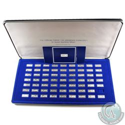 Official Classic Car Miniature Sterling Silver Ingot Collection Minted by the Franklin Mint. You wil