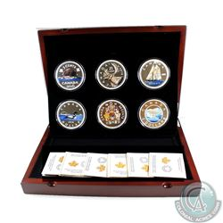 2016 Canada Big Coin Series FULL 6-Coin Set (capsules are lightly scratched or scuffed & outer sleev