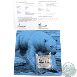 **SIGNED**2014 Canada $50 for $50 Polar Bear Fine Silver Coin with Hand Signed Cardboard Holder by A