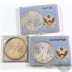 Lot of 3x 1997 American Eagle 1oz .999 Fine Silver Coins (toned). 3pcs (TAX Exempt)