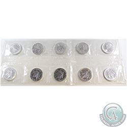 Lot of 10x 1990 Canada 1oz .9999 Fine Silver Maple Leafs in Original Sealed Plastic Strip (most coin