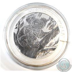 2013 Australia $30 Koala 1 Kilo .999 Fine Silver Coin (lightly toned, cracked capsule). TAX Exempt