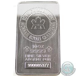 Royal Canadian Mint 10oz .9999 Fine Silver Bar (TAX Exempt)