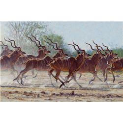 """Bachelor Herd"" by John Banovich"