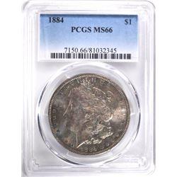 1884 MORGAN DOLLAR, PCGS MS-66