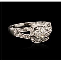 18KT White Gold 0.82 ctw Diamond Ring