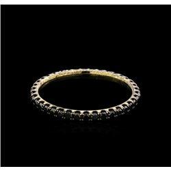 0.61 ctw Black Diamond Ring - 14KT White Gold