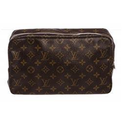 Louis Vuitton Monogram Canvas Leather Toiletry GM Pouch Bag