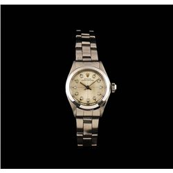 Rolex Stainless Steel Oyster Perpetual Ladies Watch