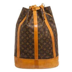 Louis Vuitton Monogram Canvas Leather Randonne Backpack Bag