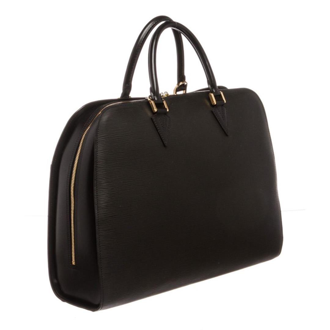 1a295c79e244 Louis Vuitton Black Epi Leather Sorbonne Briefcase Bag