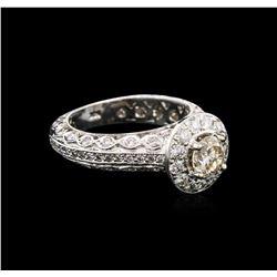 2.01 ctw Diamond Ring - 14KT White Gold