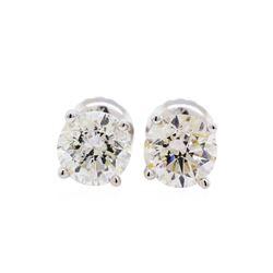 1.42 ctw Diamond Stud Earrings - 14KT White Gold