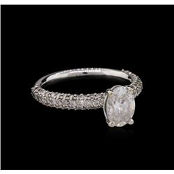 18KT White Gold EGL USA Certified 1.92 ctw Diamond Ring