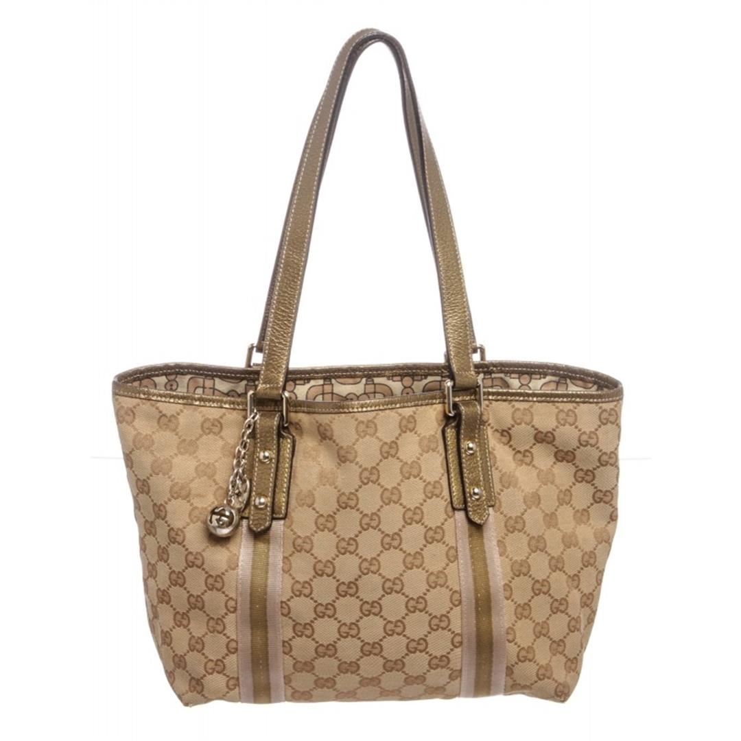 81bdd7c09812 Image 1 : Gucci Brown Beige Monogram Canvas Leather Small Jolicoeur Tote Bag  ...