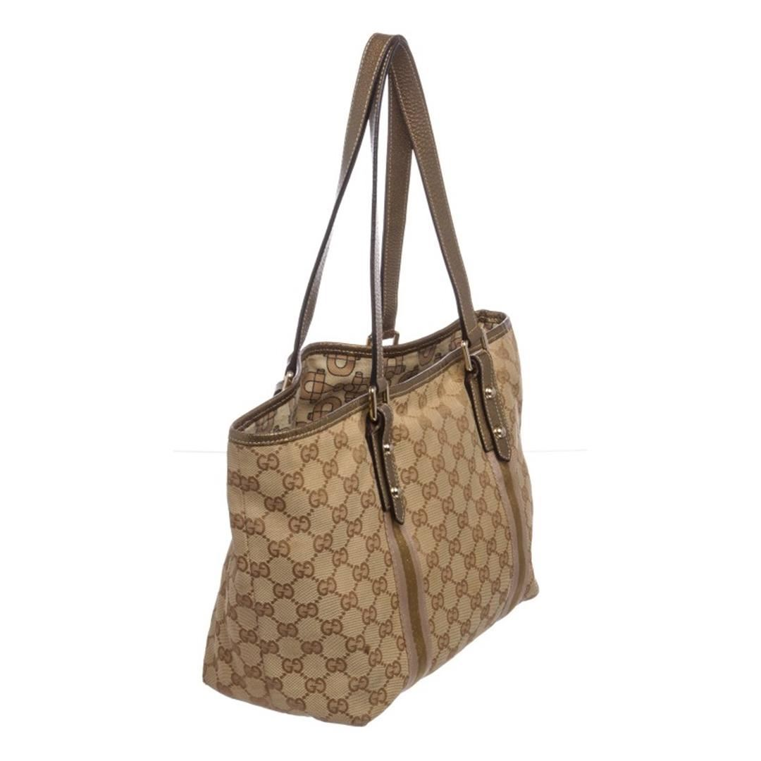 a6f1662a247008 ... Image 3 : Gucci Brown Beige Monogram Canvas Leather Small Jolicoeur Tote  Bag ...