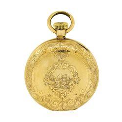 Antique Elgin Full Hunter Pocket Watch - 14KT Yellow Gold