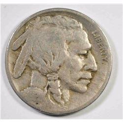 1921-S BUFFALO NICKEL, FINE KEY DATE COIN