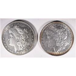 1878 REV 79 AU+ & 1887-S AU/UNC MORGAN DOLLARS