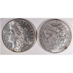 1896-O XF & 1887 BU MORGAN DOLLARS