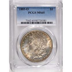 1885-O MORGAN DOLLAR, PCGS MS-65
