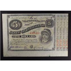1875 $5 BABY BOND #44840 GEM CU