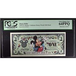 2000 $1 MICKEY MOUSE DISNEYLAND DOLLAR