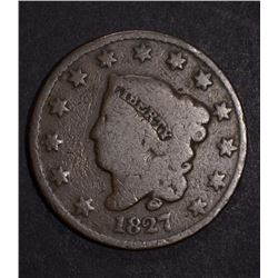 1827 LARGE CENT  GOOD
