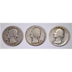 3 1932-D WASHINGTON QUARTERS