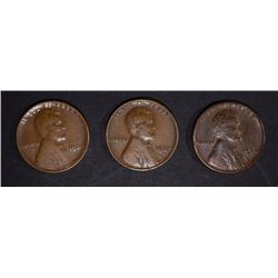 3 1924-D LINCOLN CENTS VG-FINES
