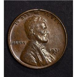 1931-S LINCOLN CENT NICE BROWN