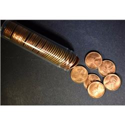 BU ROLL OF 1952-S LINCOLN CENTS