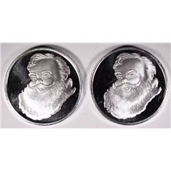 2-HALF OUNCE .999 SILVER MAGIC OF CHRISTMAS ROUNDS