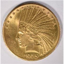 1915 GOLD $10 INDIAN  CH BU+