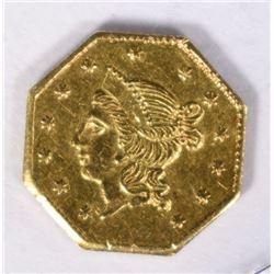 1853 LIBERTY CALIFORNIA GOLD $1 COIN  CH BU+