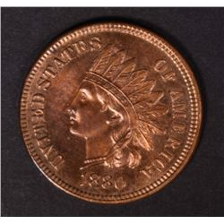1880 INDIAN HEAD CENT CHOICE RED PROOF
